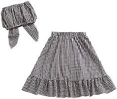 Conjunto de ropa para bebé y niña, 3 unidades, con falda vaquera y ...