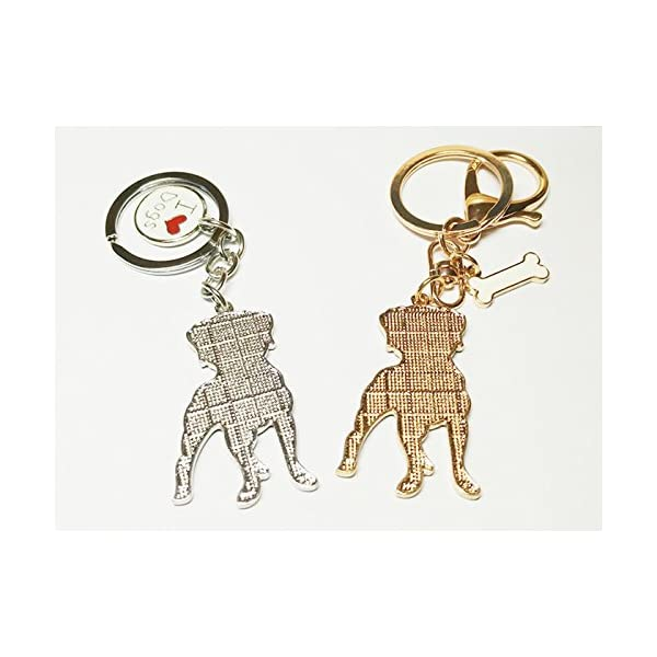 BBEART Dog Keychain ring, Cool Cute Pet Dog Keyring Bag Charm Mini Metal Key Ring Keyfob 5