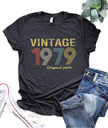 40th Birthday Gift Womens T Shirt Retro Birthday