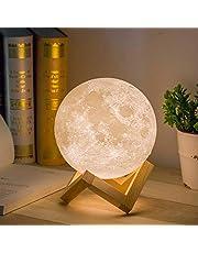 Mydethun Moon Lamp Moon Light Nachtlampje voor Kids Gift voor Vrouwen USB Opladen en Touch Control Helderheid Twee Tone Warm en Koel Wit Lunar Lamp (5.9IN)