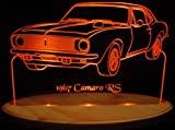 1967 Camaro RS Only +Tach Acrylic Lighted Edge Lit 13'' LED Sign / Light Up Plaque 67 VVD1 Made in USA
