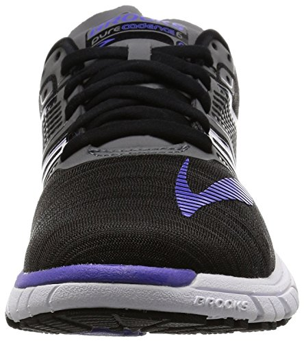 Calzado De Running Brooks Mujeres Purecadence 6 Overpronation Stability Black / Anthracite / Blue Iris