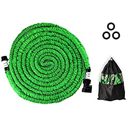 DCLYSI Garden Hose 75FT,Expandable Garden Hose Double Latex Core Solid,Extra Strength Fabric Flexible Garden Hose Car Pet Garden Plants(75 FT)