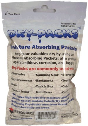 Dry-Packs 1-Ounce Moisture Absorbing Indicating Silica Gel, Pack Contains 5 Packets by Dry-Packs