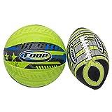 Swimways Coop Turbine Football and Hydro Basketball Set Outdoor Ball, Green