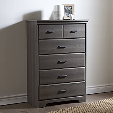 South Shore Versa 5-Drawer Chest, Gray Maple