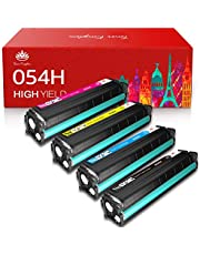 Toner Kingdom Compatible Toner Cartridge Replacement for Canon 054H 054 High Yield CRG-054 for Canon Color ImageClass LBP622Cdw MF644Cdw MF642Cdw MF640C - 4Pack(1B 1C 1M 1Y)