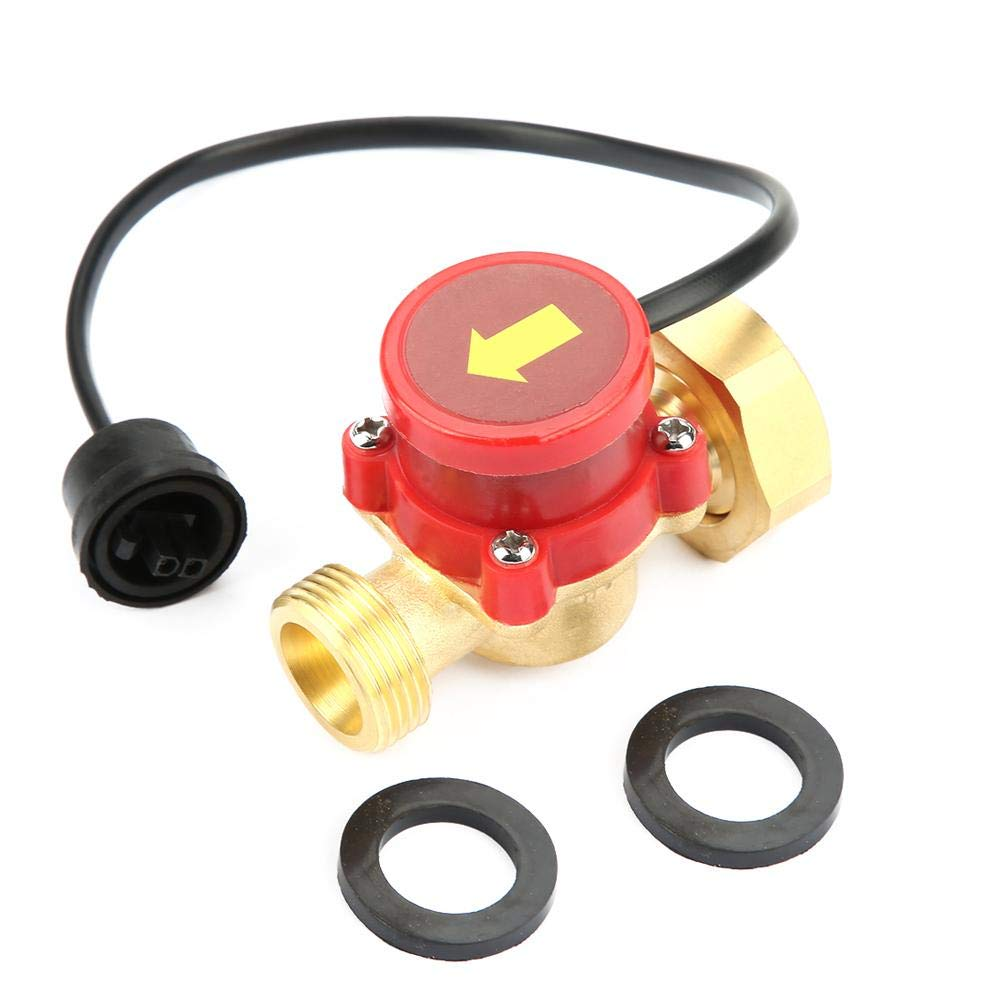 Water Flow Switch, G1-G1/2 Thread Water Flow Control Switch 220V Water Pump Flow Sensor Pressure Automatic Flow Control Switch