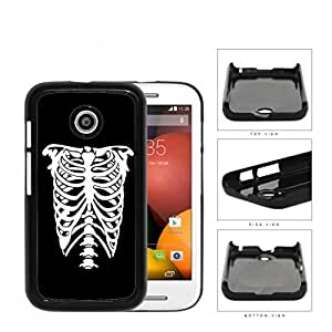Rib Cage Skeleton Black And White Hard Plastic Snap On Cell Phone Case Motorola Moto E