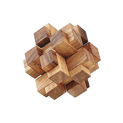 BRAIN GAMES 3D Square Cube Wooden Puzzle