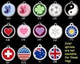 Custom Engraved Stainless Steel with Enamel Pet ID Tag – Small Dog, My Pet Supplies