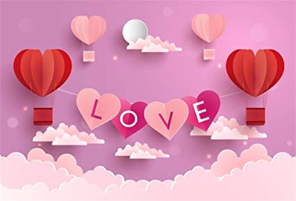 Yeele 10x8ft Sweet Pink Heart Backdrop Love Theme Valentines Day Wedding Party Mothers Day Photography Background Girls Princess Party Artistic Portrait Photo Booth Props Digital Wallpaper