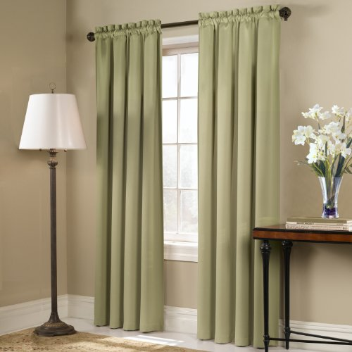 United Curtain Blackstone Blackout Window Curtain Panel, 54 by 84-Inch, Sage