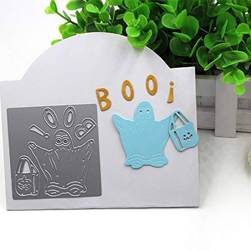 Davitu Halloween Ghost Boo Metal Cutting Dies Stencils for DIY Scrapbooking/Photo Album Decorative Embossing DIY Paper Cards Craft Gift -