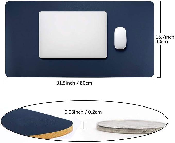 BUBM D/à una sensazione di ordine Con comoda superficie di scrittura 90x45cm Light Grey In PU Tappetino protettivo per la scrivania