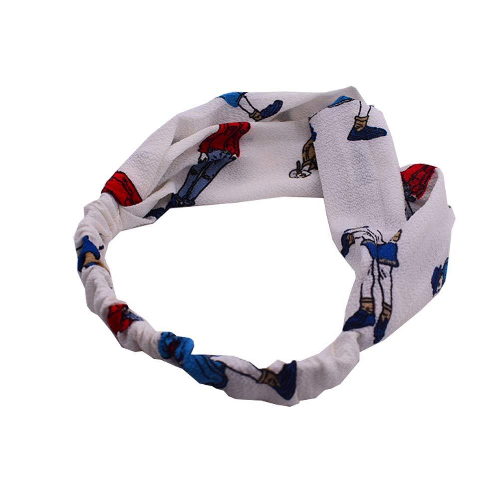 6 St/ück Damen Stirnband,Elastisches Stirnband Gekreuztes Stirnband,Damen Bedrucktes Stirnband,T/ägliche Yoga Fitness/übungen mit Elastischem Stirnband und Haarband
