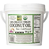 Native Forest 100% Organic Raw Virgin Coconut Oil, 128 Ounce