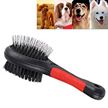 Pet Brush Fashion Flea Comb Double Side Pet Cat Dog Puppy Comb Hair Shedding Removal Cleaning Grooming Tool Pin (Medium)