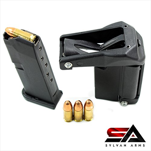 Sylvan Arms Raptor Universal Pistol Speed Loader (Black), Designed for magazines from .380, 9mm to 45 ACP