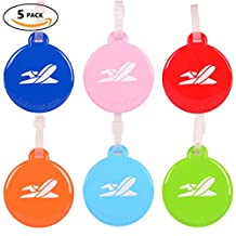 Cruise Baggage Tags, Identifiers Labels for Luggage Suitcases Bags, PVC Circular Travel Tag Set 6 Pack