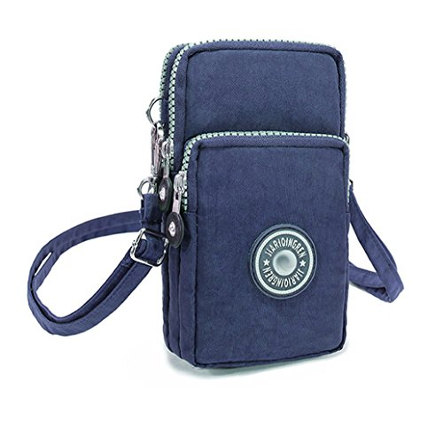 Zipper Cellphone Pouch Nylon Crossbody Bag
