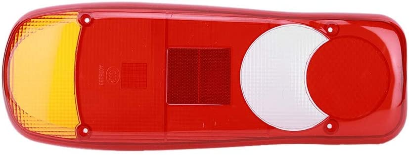 Qiilu 1 pc Rear Light Cover,Stop Reverse Tail Lights Lamp Shell for Lorry Trucks Trailer