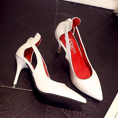 Talons LvYuan Talon Noir black Habillé Aiguille à Rose Blanc 5 Femme 5 2 Chaussures Eté Polyuréthane ggx Rouge Boucle à 4 cm 7rzrxW1I