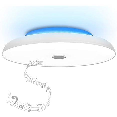 36W Starry LED Lámpara de techo con Doble altavoz Bluetooth Lámpara colgante de música, [Aplicación de teléfono inteligente] [Ø40cm regulable], cambio ...