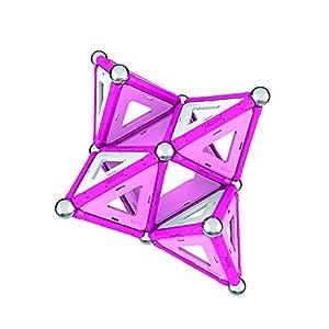 Geomag 342 Classic Pink Sistema Di Costruzioni Magnetico 68 Pezzi