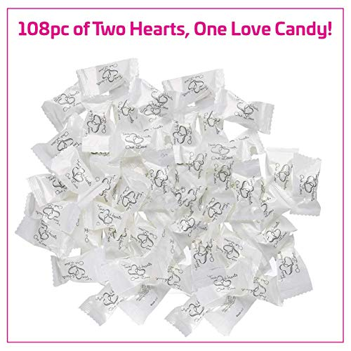 108pcs Individual Wrapped Buttermints For Thank You Special Day Wedding Birthday