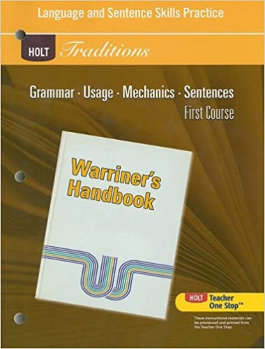 Amazon holt traditions warriners handbook language and holt traditions warriners handbook language and sentence skills practice first course grade 7 first course 1st edition fandeluxe Image collections