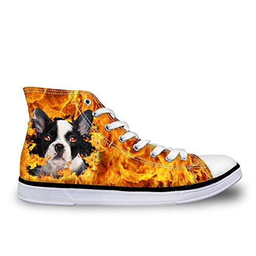 Showudesigns Wolf Lace Cool High color 4 Canvas Shoes Walking Printing Top up Dog Shoes pwTrpqU