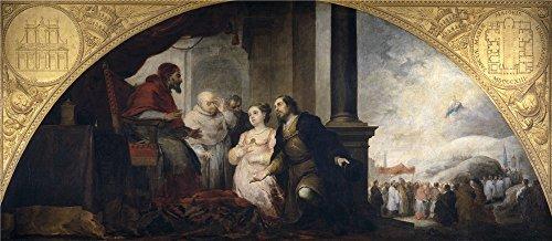 Oil Painting 'Murillo Bartolome Esteban Fundacion De Santa Maria Maggiore De Roma I. El Sueno Del Patricio Juan 1662 65' 24 x 55 inch / 61 x 140 cm , on High Definition HD canvas prints, Home decor