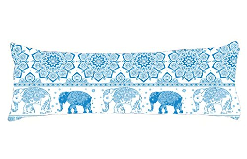 Elephant Pregnancy Pillows - HollyNoirial Body Pillow Cover Cotton Long