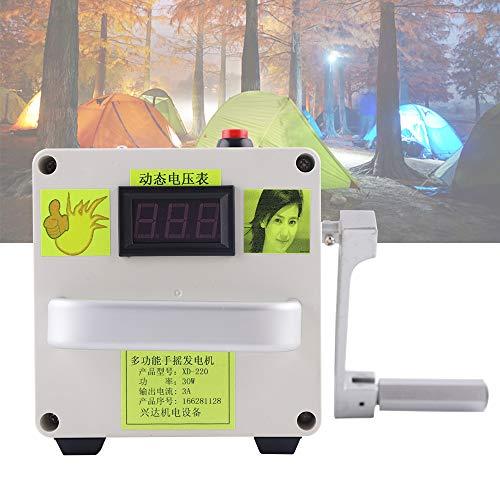 DiLiBee Kleine Handkurbel Generator New 220V Notladegerät Portable Power Supply (mit Lithium-Batterie)