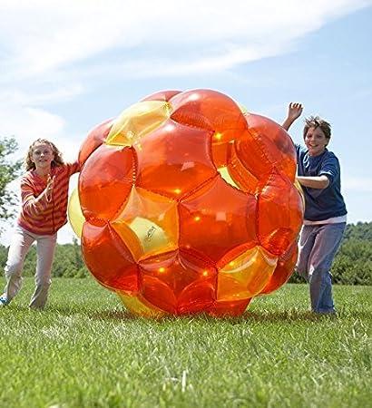 Amazon.com: Pelota gigante inflable naranja y amarillo ...