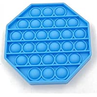 Push Pop Bubble Sensory Fidget Toy Autism Stress Relief Silent Classroom Special Needs Stress Reliever- Octagonal - Blue