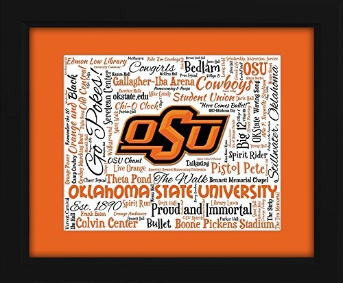 - Oklahoma State University 16x20 Art Piece - Beautifully matted and framed behind glass