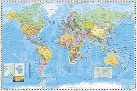 Maps poster photo wallpaper world map 4 parts in english 100 x maps poster photo wallpaper world map 4 parts in english 100 x gumiabroncs Gallery
