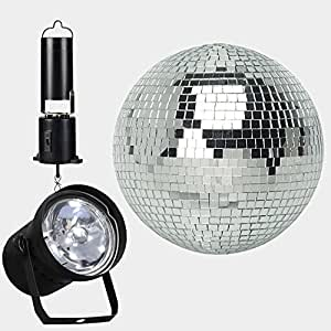 Amazon Com 8 Quot Mirror Ball Complete Party Kit With Pinspot