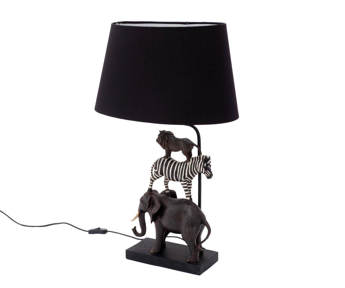 Tischlampe Kinderzimmer Kinder Tiere Safari Nachttischlampe ...