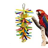 Mempa Parrot Toy,Bird Toys, Hanging Toy Parrot Nest Suitable Medium Small Parrots Birds. (Wood Chips)
