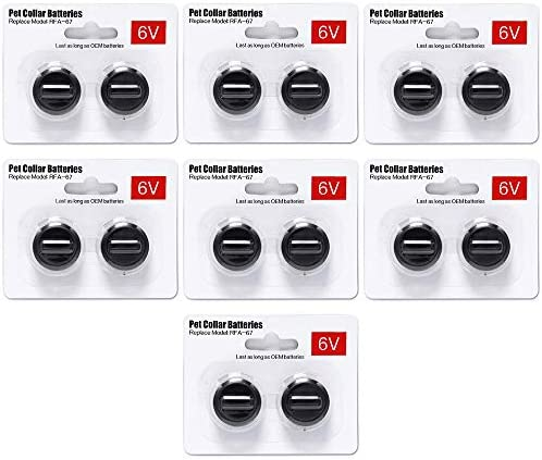 Ruzixt 6V Pet Collar Batteries Compatible with PetSafe RFA-67 6 Volt Replacement Battery 14 Pack