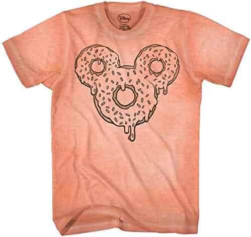 b2f47e02e Mickey Mouse Donut Tie Dye Classic Vintage Disneyland World Mens Adult  Graphic Tee T-Shirt