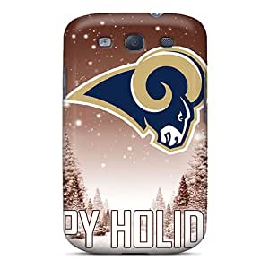 Galaxy S3 Case Cover - Slim Fit Tpu Protector Shock Absorbent Case (st. Louis Rams)