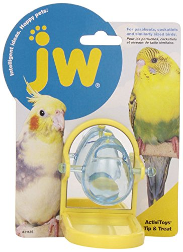 Image of JW Pet Company 31136 Tip and Treat for Pets, Yellow