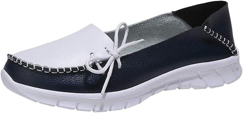 FAMILIZO Zapatillas Mujer Running Zapatillas Deportivas De Mujer Sneakers Women Primavera Outdoor Zapatos Deportivos De Cuero De Punta Redonda Zapatos Tenis Transpirables Zapatillas: Amazon.es: Zapatos y complementos