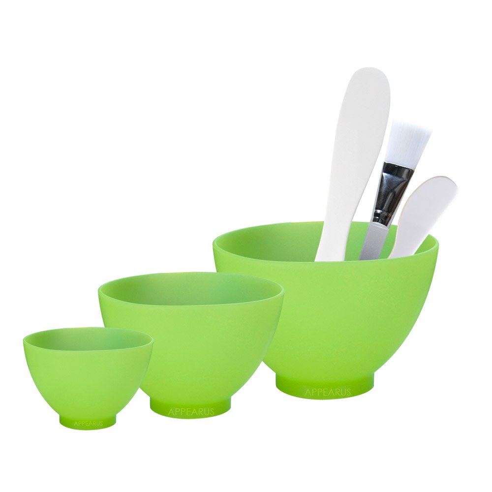 Appearus Pro. Silicone Facial Mask Mixing Bowl Set (Light Green)