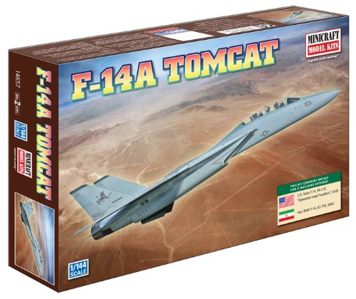 F-14 Tomcat Jet (Minicraft F-14A Tomcat USN with 2 Marking Options, 1/144)
