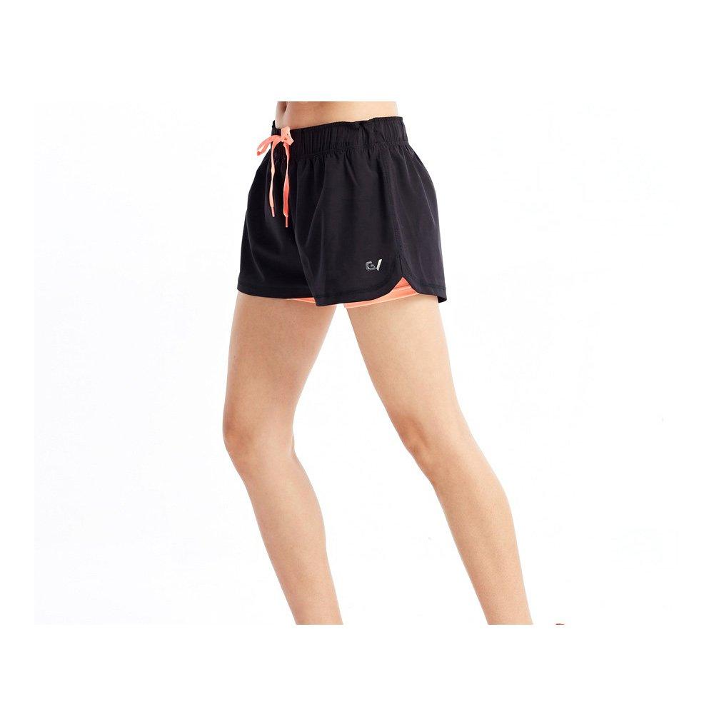 garvirp Womens Shortsパターン非表示ポケット伸縮性ジムカジュアルMoisture Wicking夏ホットパンツ B07BT7Z58N X-Large Fluorescent Corals Fluorescent Corals X-Large